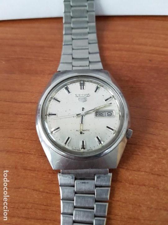 Relojes - Seiko: Reloj de caballero (Vintage) Seiko automático con doble calendario a las tres calibre 7009-8310. - Foto 3 - 62472716