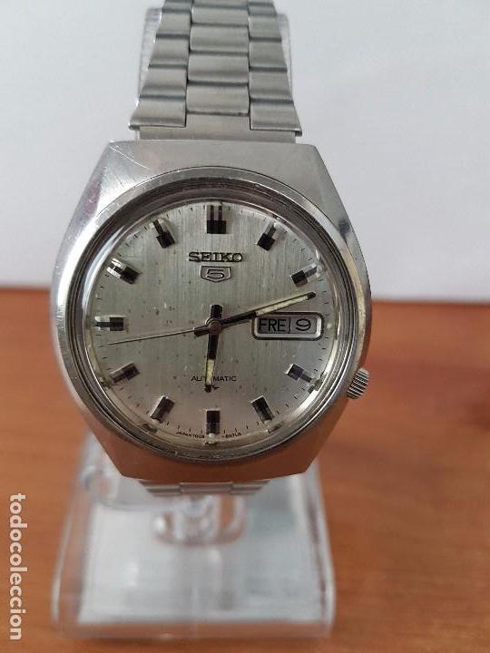 Relojes - Seiko: Reloj de caballero (Vintage) Seiko automático con doble calendario a las tres calibre 7009-8310. - Foto 4 - 62472716
