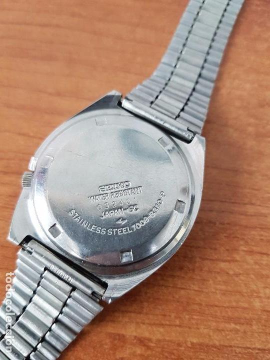 Relojes - Seiko: Reloj de caballero (Vintage) Seiko automático con doble calendario a las tres calibre 7009-8310. - Foto 7 - 62472716