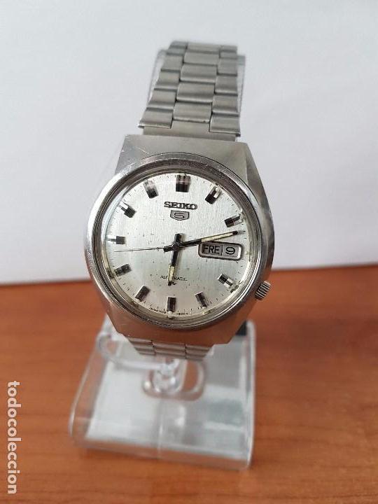 Relojes - Seiko: Reloj de caballero (Vintage) Seiko automático con doble calendario a las tres calibre 7009-8310. - Foto 8 - 62472716