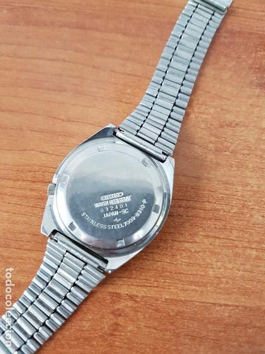 Relojes - Seiko: Reloj de caballero (Vintage) Seiko automático con doble calendario a las tres calibre 7009-8310. - Foto 9 - 62472716