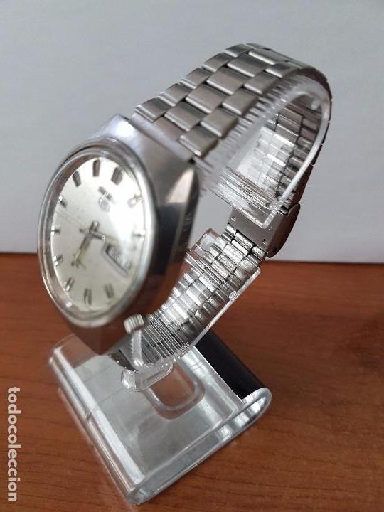 Relojes - Seiko: Reloj de caballero (Vintage) Seiko automático con doble calendario a las tres calibre 7009-8310. - Foto 10 - 62472716