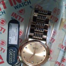 Relojes - Seiko: RELOJ SEIKO DORADO CALENDARIO 7N29 6B20 NUEVO A ESTRENAR .CABALLERO. Lote 64121783