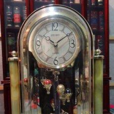 Relojes - Seiko: RELOJ SEIKO CON PENDULO ROTATORIO - MUY RARO - AÑOS 90 - FUNCIONA - MUY ORIGINAL - SOBREMESA. Lote 65777446
