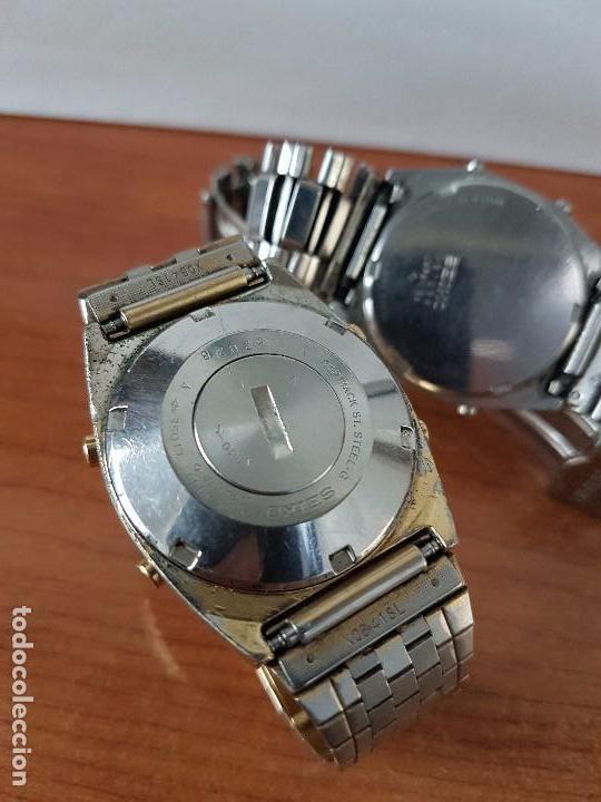 Relojes - Seiko: Dos relojes de caballero (Vintage) Seiko con correas originales Seiko para repuestos (Fornituras) - Foto 4 - 67686737
