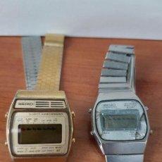 Relojes - Seiko: DOS RELOJES DE CABALLERO (VINTAGE) SEIKO CON CORREAS ORIGINALES SEIKO PARA REPUESTOS (FORNITURAS) . Lote 67686737