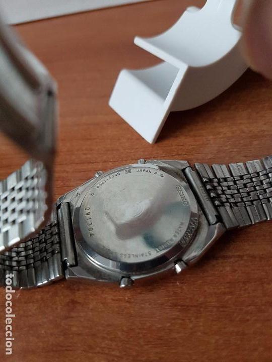 Relojes - Seiko: Un reloj de caballero (Vintage) Seiko con correa original Seiko, para repuestos - Foto 6 - 67687657