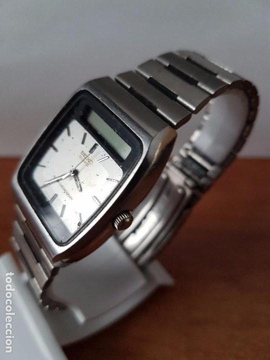 Relojes - Seiko: Un reloj de caballero (Vintage) Seiko ana digi con correa original Seiko, para repuestos - Foto 3 - 67687997