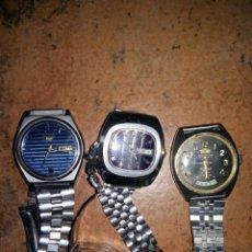 Relojes - Seiko: 3 RELOJES VIEJOS SEIKO 5 , SANCOR Y ORIENT. Lote 68404005