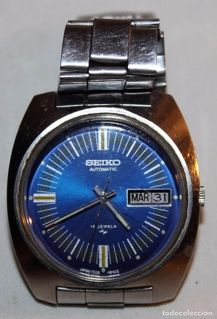 RELOJ SEIKO AUTOMATIC 19 JEWELS 7006-8060 JAPAN CON CALENDARIO. FUNCIONANDO (Relojes - Relojes Actuales - Seiko)