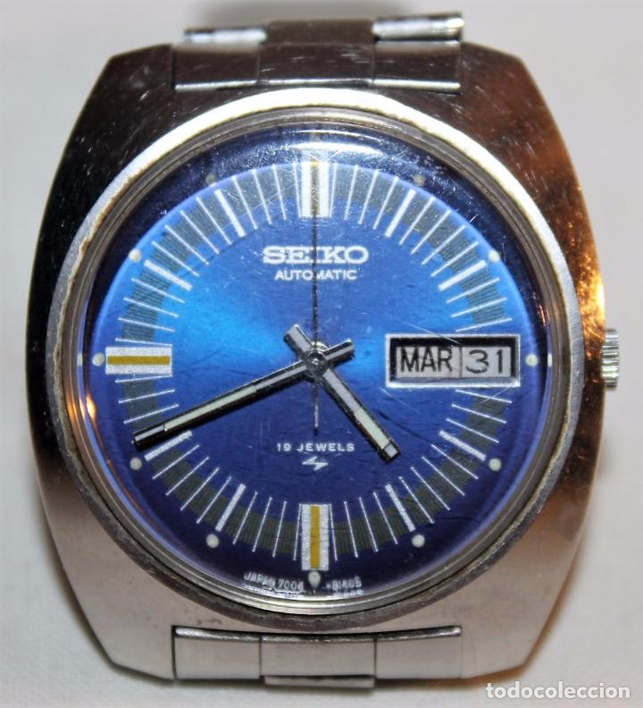 Relojes - Seiko: RELOJ SEIKO AUTOMATIC 19 JEWELS 7006-8060 JAPAN CON CALENDARIO. FUNCIONANDO - Foto 2 - 74641759