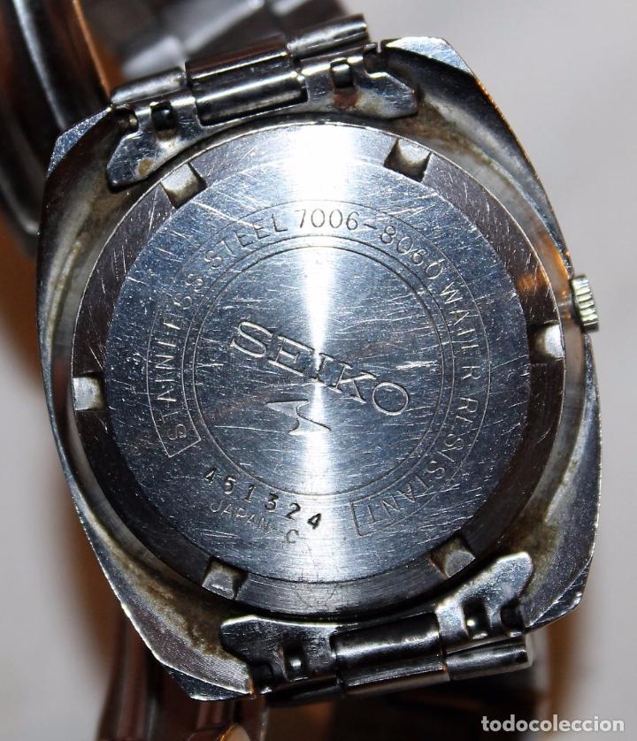 Relojes - Seiko: RELOJ SEIKO AUTOMATIC 19 JEWELS 7006-8060 JAPAN CON CALENDARIO. FUNCIONANDO - Foto 3 - 74641759