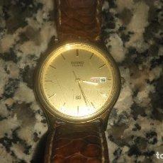 Relojes - Seiko: RELOJ SEIKO QUARTZ CON CALENDARIO MARCA DÍAS EN ESPAÑOL Y INGLÉS MIREN DESCRIPCION. Lote 76854291