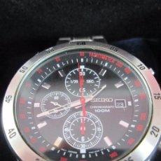 Relojes - Seiko: RELOJ-SEIKO QUARTZ CHRONOGRAPH 100 M-50 MM CON CORONA-EXTRAORDINARIO ESTADO-CAJA-VER FOTOS. Lote 77315677