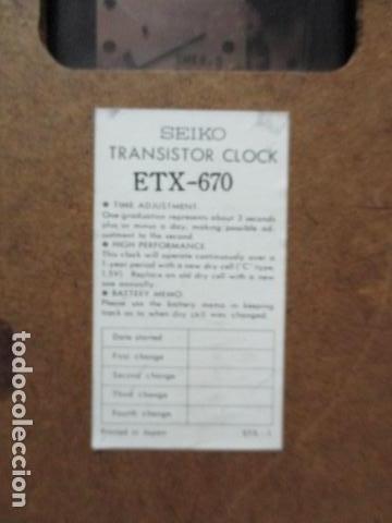 Relojes - Seiko: Precioso reloj de pared Seiko Transistor - Funciona - Foto 7 - 79990201