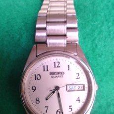 Relojes - Seiko: RELOJ DE ACERO DE CUARZO, CABALLERO CADENA ORIGINAL SEICO. Lote 80871499