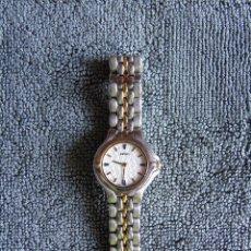 Relojes - Seiko: RELOJ SEIKO DE SEÑORA. 722461. WATER RESISTAN. FUNCIONANDO. CORREA DE ACERO ORIGINAL, Y MANUAL. Lote 81355604