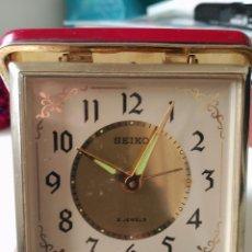 Relojes - Seiko: RELOJ DESPERTADOR SEIKO 2 JEWEL FUNCIONANDO PERFECTAMENTE. Lote 90195624