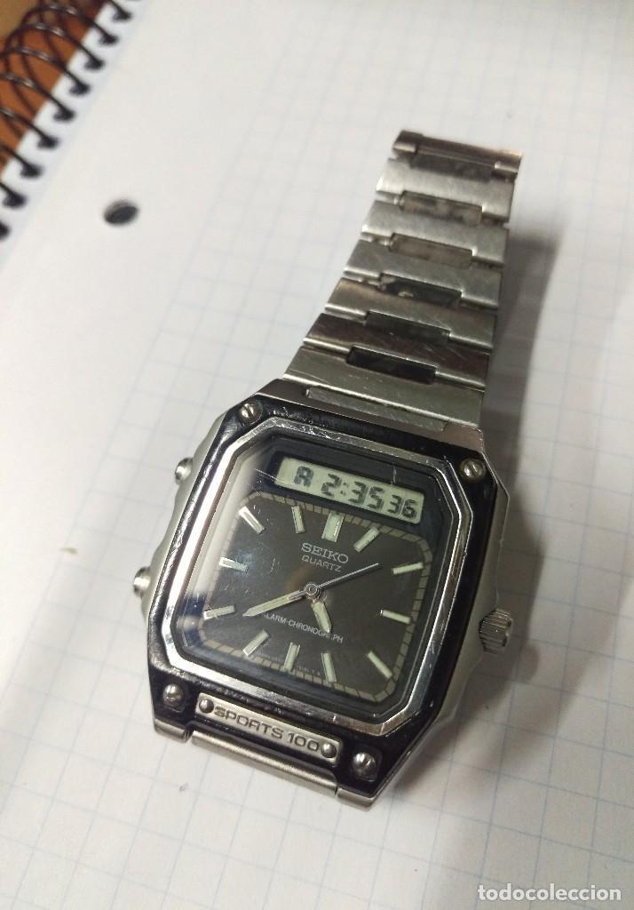 Reloj Vintage Seiko Quartz Sports 100 H557 5090 Comprar