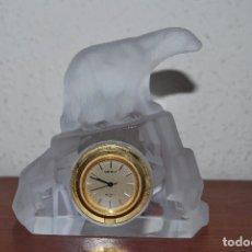 Relojes - Seiko: RELOJ SEIKO DE SOBREMESA - FIGURA DE CRISTAL - OSO POLAR - ESTILO ART DÉCO. Lote 92975540