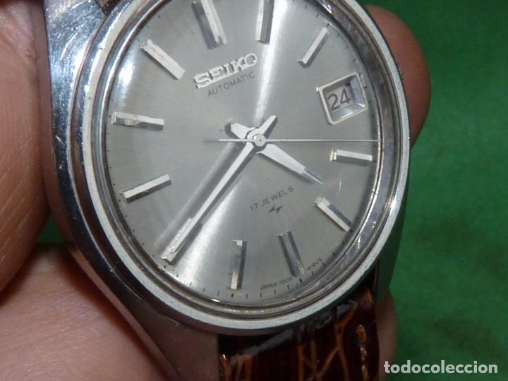 Relojes - Seiko: Bonito reloj automático Seiko años 70 17 rubis 7005-8022 vintage made in Japan - Foto 5 - 93871210