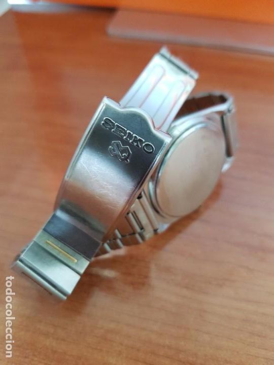 Relojes - Seiko: Reloj caballero (Vintage) SEIKO de cuarzo acero bisel bicolor, correa acero bicolor original Seiko - Foto 5 - 97460027