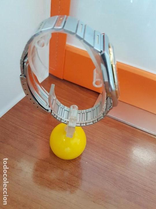Relojes - Seiko: Reloj caballero (Vintage) SEIKO de cuarzo acero bisel bicolor, correa acero bicolor original Seiko - Foto 8 - 97460027