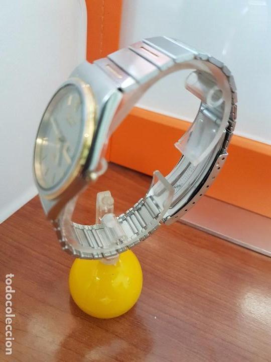 Relojes - Seiko: Reloj caballero (Vintage) SEIKO de cuarzo acero bisel bicolor, correa acero bicolor original Seiko - Foto 9 - 97460027