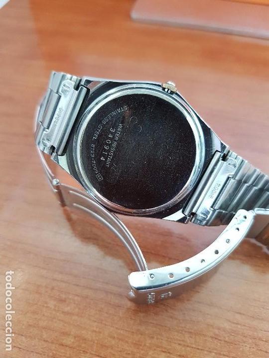 Relojes - Seiko: Reloj caballero (Vintage) SEIKO de cuarzo acero bisel bicolor, correa acero bicolor original Seiko - Foto 12 - 97460027