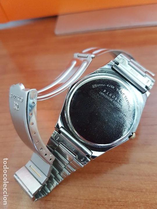 Relojes - Seiko: Reloj caballero (Vintage) SEIKO de cuarzo acero bisel bicolor, correa acero bicolor original Seiko - Foto 14 - 97460027