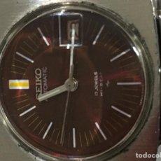 Relojes - Seiko: RELOJ SEIKO AUTOMÁTICO EN ACERO COMPLETO CORREA ORIGINAL EN FUNCIONAMIENTO MUY ESCASO. Lote 97884439