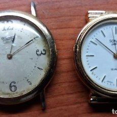 Relojes - Seiko: SEIKO ANTIGUO, SONAKI QUARZ JAPON, NO FUNCIONAN. Lote 98625131