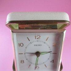 Relojes - Seiko: RELOJ-SEIKO-DESPERTADOR DE VIAJE-FUNCIONA-VER FOTOS. Lote 171005673