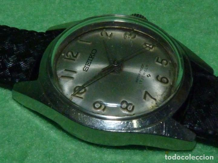 Relojes - Seiko: Buscado reloj Seiko 66-7071 carga manual 17 rubis vintage 1969 made in Japan todo acero waterproof - Foto 3 - 101776931