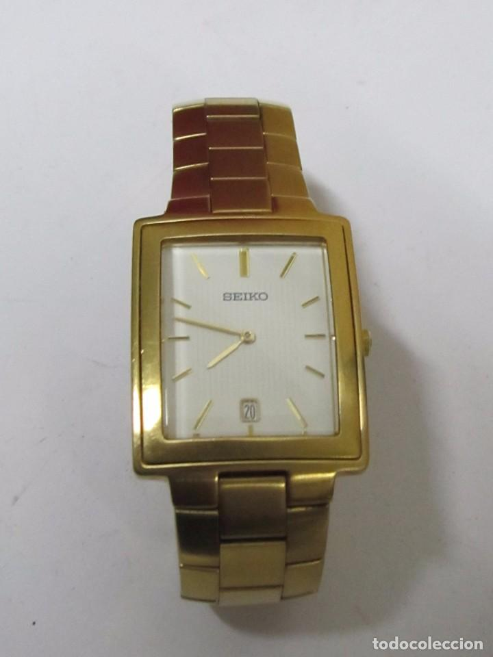 Reloj Seiko De Cuarzo Chapado En Oro Comprar Relojes