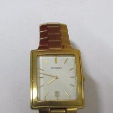 Relojes - Seiko: RELOJ SEIKO DE CUARZO CHAPADO EN ORO. Lote 119487387
