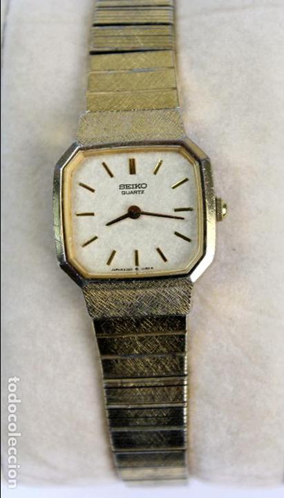 Relojes - Seiko: REL-13. RELOJ DE PULSERA SEIKO QUARTZ.. JAPAN. 2320/5110R . PLAQUE ORO. - Foto 2 - 104469099