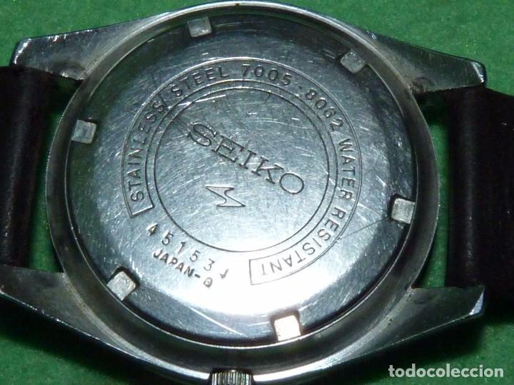 Relojes - Seiko: Raro reloj Seiko 7005-8062 Jumbo automático 17 rubis 1974 vintage Japan gran tamaño - Foto 9 - 105376435