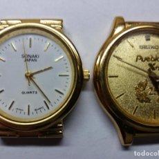 Relojes - Seiko: 2 RELOJES UN SEIKO UN SONAKI, NO FUNCIONAN.. Lote 106197171