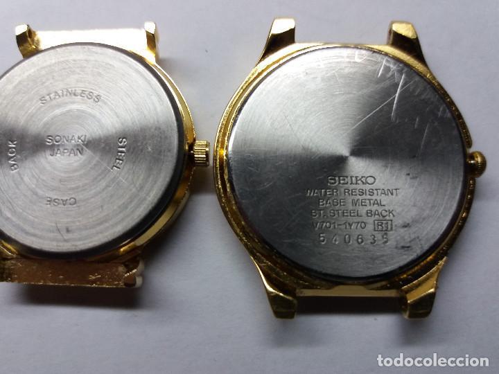 Relojes - Seiko: 2 relojes un seiko un sonaki, no funcionan. - Foto 2 - 106197171