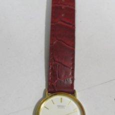Relojes - Seiko: RELOJ SEIKO DE CUARZO, CHAPADO EN ORO. Lote 109025651