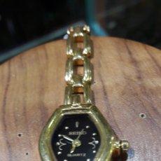 Relojes - Seiko: SEIKO RELOJ DE PULSERA SEÑORA CHAPADO EN ORO.FUNCIONA. Lote 109262758