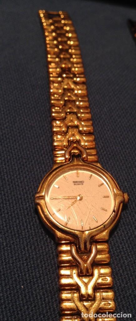 Relojes - Seiko: Lote 2 relojes pulsera SEIKO mujer Modelos 4N00 0230 y 1N00 0D20 - Foto 6 - 116291919