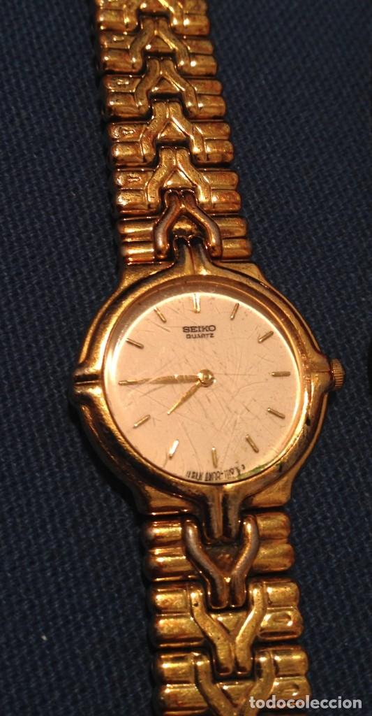Relojes - Seiko: Lote 2 relojes pulsera SEIKO mujer Modelos 4N00 0230 y 1N00 0D20 - Foto 7 - 116291919