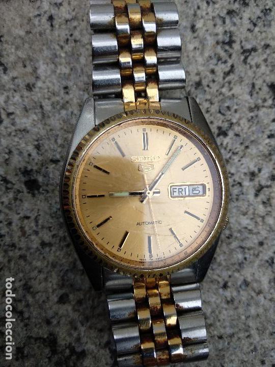 Relojes - Seiko: Reloj Seiko 5 automático funcionando correctamente - Foto 2 - 116831163