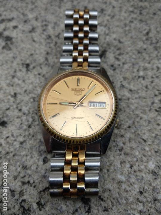 Relojes - Seiko: Reloj Seiko 5 automático funcionando correctamente - Foto 3 - 116831163