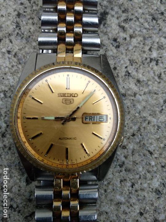 Relojes - Seiko: Reloj Seiko 5 automático funcionando correctamente - Foto 5 - 116831163
