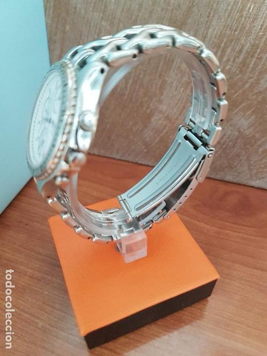 Relojes - Seiko: Reloj caballero (Vintage) SEIKO cronografo, alarma calendario de cuarzo, correa original Seiko - Foto 6 - 117379695