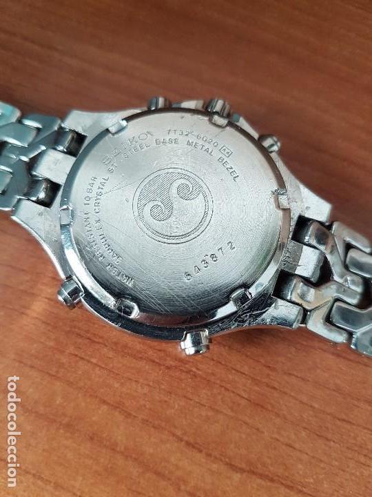 Relojes - Seiko: Reloj caballero (Vintage) SEIKO cronografo, alarma calendario de cuarzo, correa original Seiko - Foto 15 - 117379695