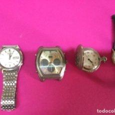 Relojes - Seiko: LOTE CUATRO RELOJES UNO DE ELLOS SEIKO PARA REPARAR O PIEZAS. Lote 118761819